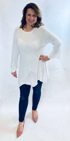 Scalloped Edge Elegant Knit - TheSecretCloset.Boutique
