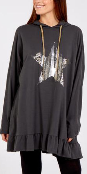 Animal Foil Star Frill Hoodie