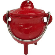 Colorful cast iron cauldron