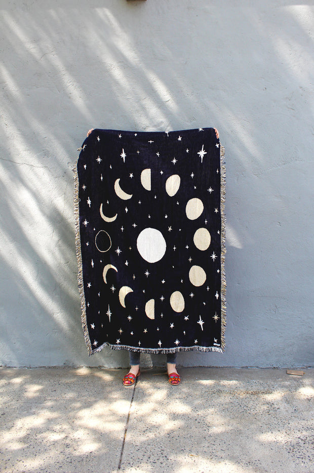 MOON PHASES THROW BLANKET