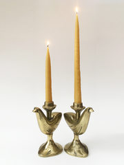 Hand Dipped Beeswax Taper Candle