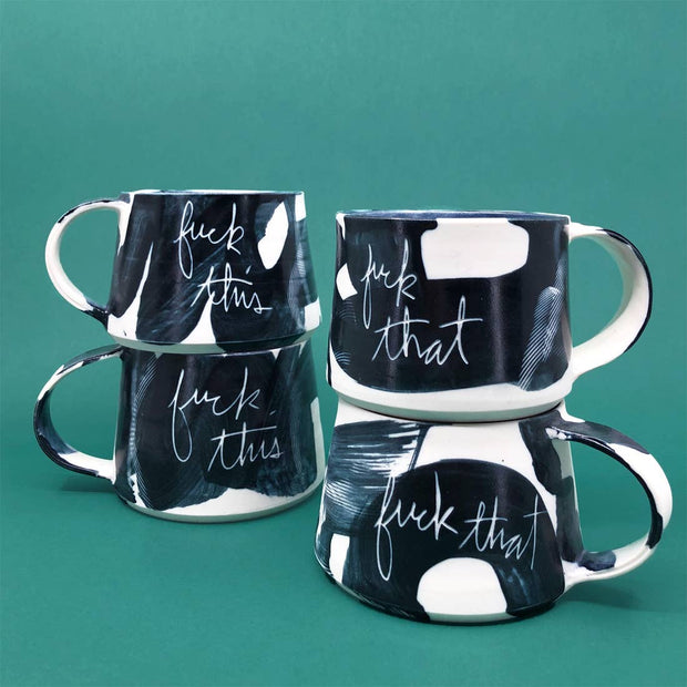 Brush Strokes Short Mug