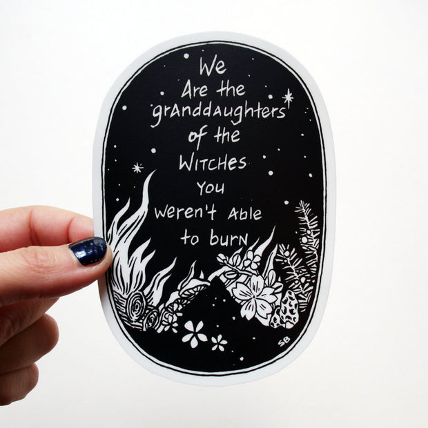 Granddaughter of Witches Sticker