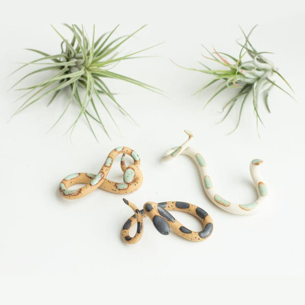 Small Ceramic Snakes set of 3