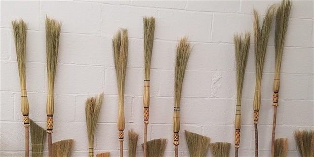 03-14-2020 - Intermediate Broom Craft // Cob Webbers and woven whisks workshop
