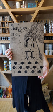 House-made 2020 Letterpressed Lunar Moon Calendar