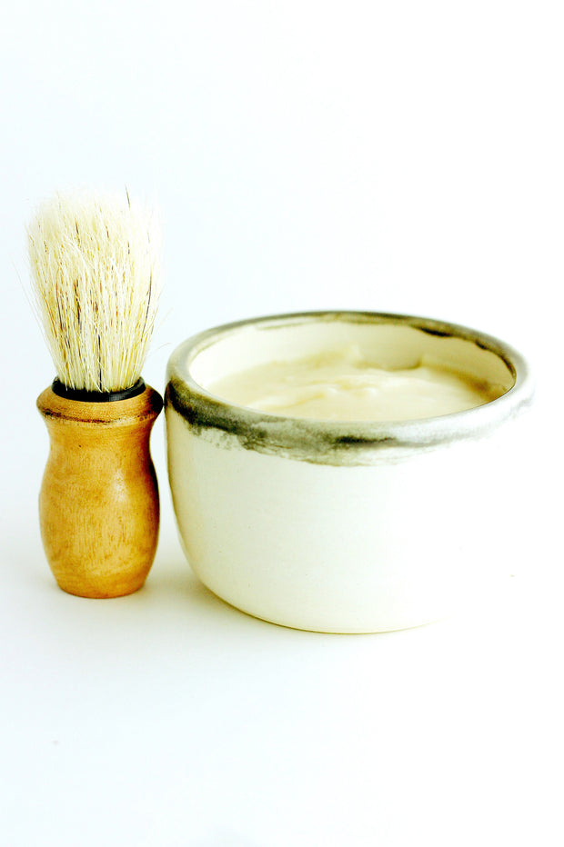Shave Mug Set- soothing shave soap + brush