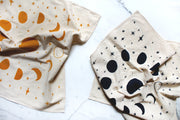 MOON PHASES PRINTED TEA TOWEL/ ALTAR CLOTH