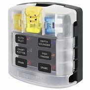 Blue Sea Systems 5028 ST Blade Fuse Block With Cover - 6 Circuit