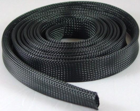 "Braided Expandable Wire Sleeving 3-4"" 10 ft Roll Black"