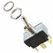Metal Bat Toggle Switch DPDT On-Off-On with Tabs