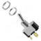 Metal Bat Toggle Switch SPST (Momentary)(On)-Off with Tabs