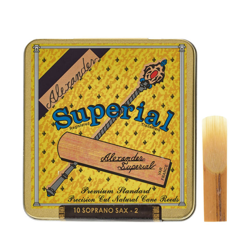 Alexander Reeds Superial Soprano Saxophone reeds (tin of 10)