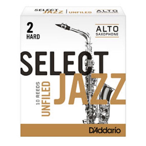D'Addario Select Jazz Alto Saxophone Reed (Unfiled)