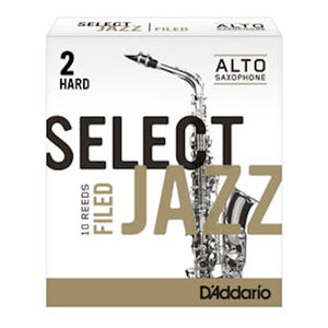 D'Addario Select Jazz Alto Saxophone Reed (Filed)
