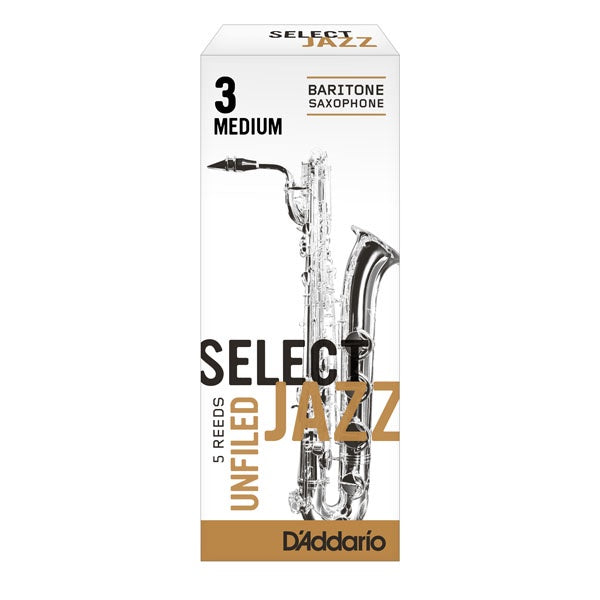 D'Addario Select Jazz Baritone Saxophone Reeds (Unfiled)
