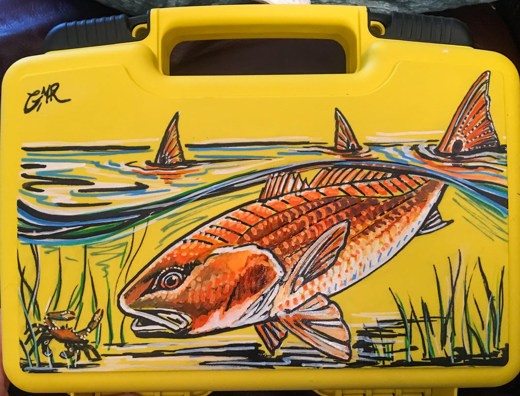 Custom Fly Box - Red Chasing Crab - SOLD