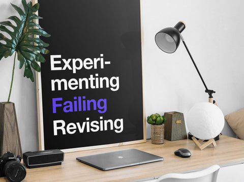 Experimenting Failing Revising Poster by Wiro Academy