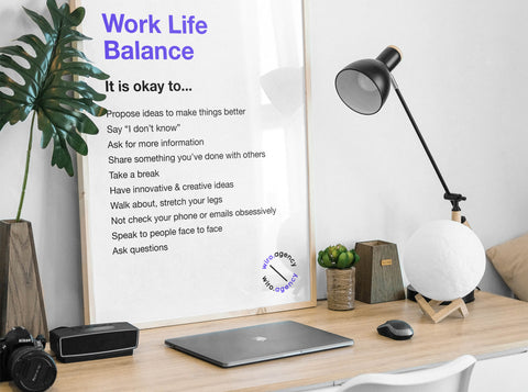 Work Life Balance Poster by Wiro Academy and Wiro Agency