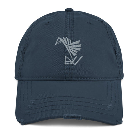 BuildYourVibe® Distressed Dad Hat