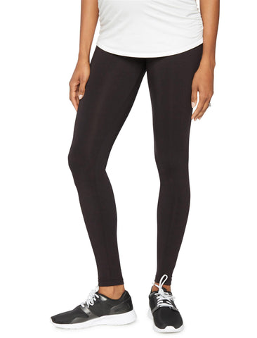 Luxe Essentials Secret Fit Belly Ultra Soft Maternity Leggings in Black