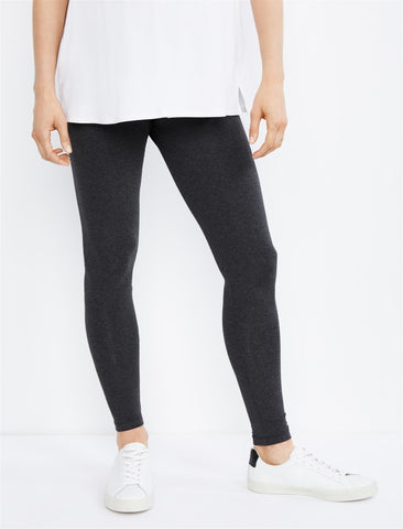 Luxe Essentials Secret Fit Belly Ultra Soft Maternity Leggings in Grey
