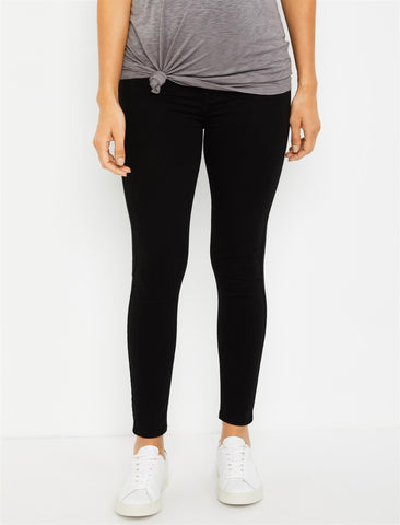 7 For All Mankind Secret Fit Belly B(air) Ankle Skinny Maternity Jeans in Black