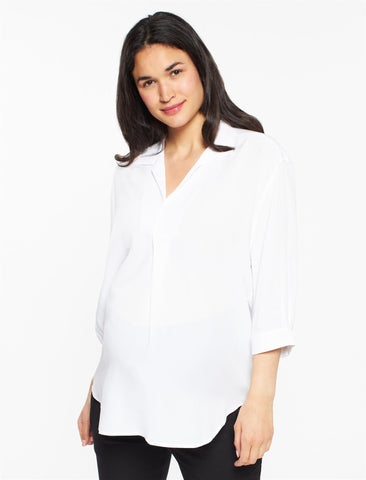 Pietro Brunelli Panarea Maternity Pull Over in White