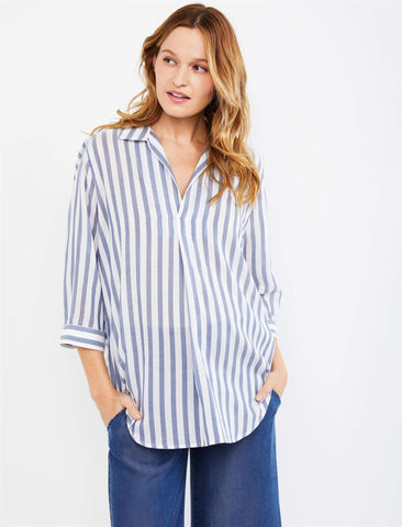 Pietro Brunelli Panarea Maternity Pull Over in Navy Stripe