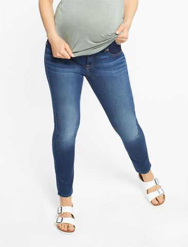 7 For All Mankind B(air) Side Panel Ankle Skinny Maternity Jeans in Duchess