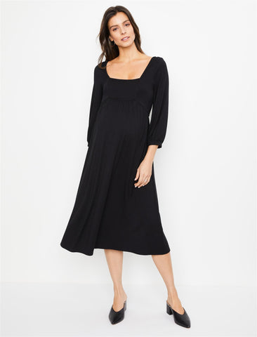 Rachel Pally Raphaela Maternity Dress in Black