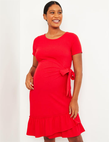 Maternity Dress in Red