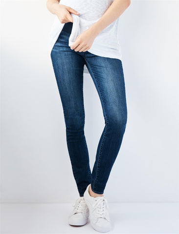 Articles Of Society Secret Fit Belly Mya Skinny Maternity Jeans in Cougar