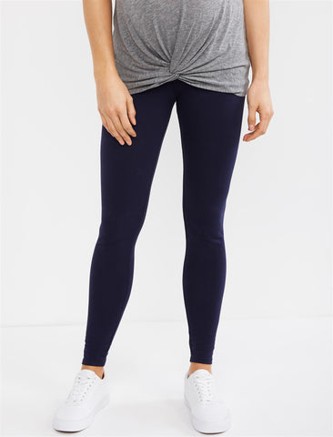 Essential Stretch Secret Fit Belly Maternity Leggings in Navy