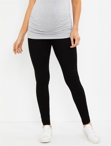 Articles Of Society Secret Fit Belly Mya Maternity Jeans- Blackhawk in Blackhawk