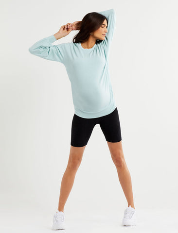 Maternity Sweatshirt in Blue Haze