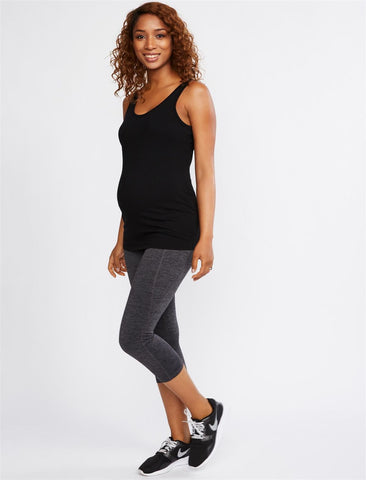 Secret Fit Belly Crop Active Maternity Pants in Spacedye