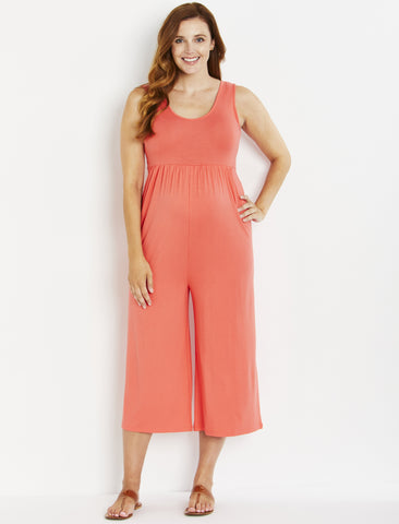 Relaxed Fit Maternity Jumpsuit in Pink