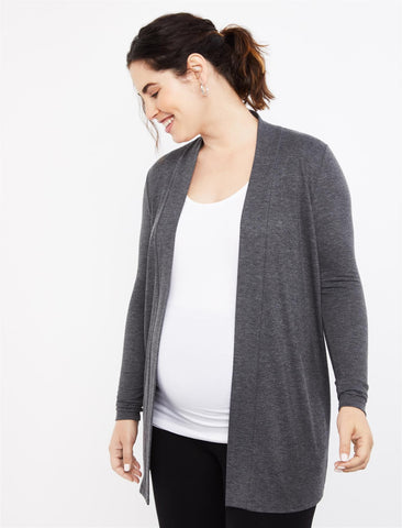 Drape Maternity Cardigan in Charcoal
