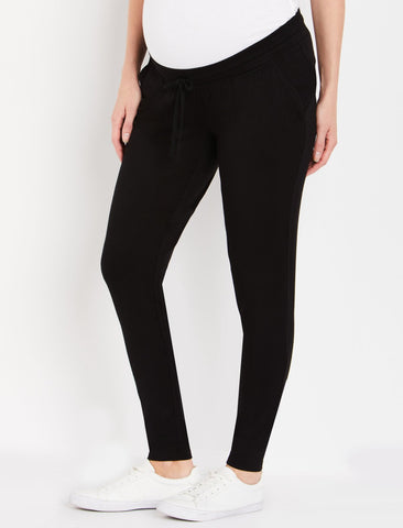 Under Belly Jogger Maternity Pants in Black