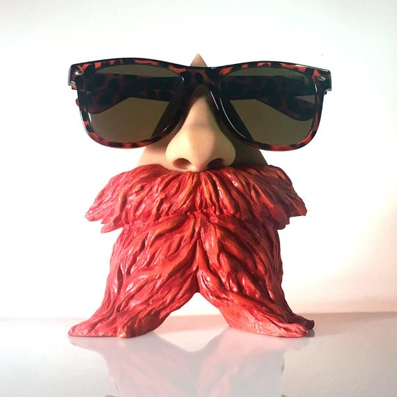Bearded Nose Eyeglass Stand