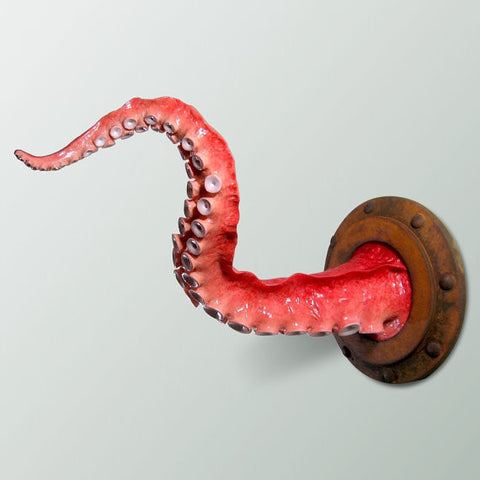 Orange Tentacle Wall Decor