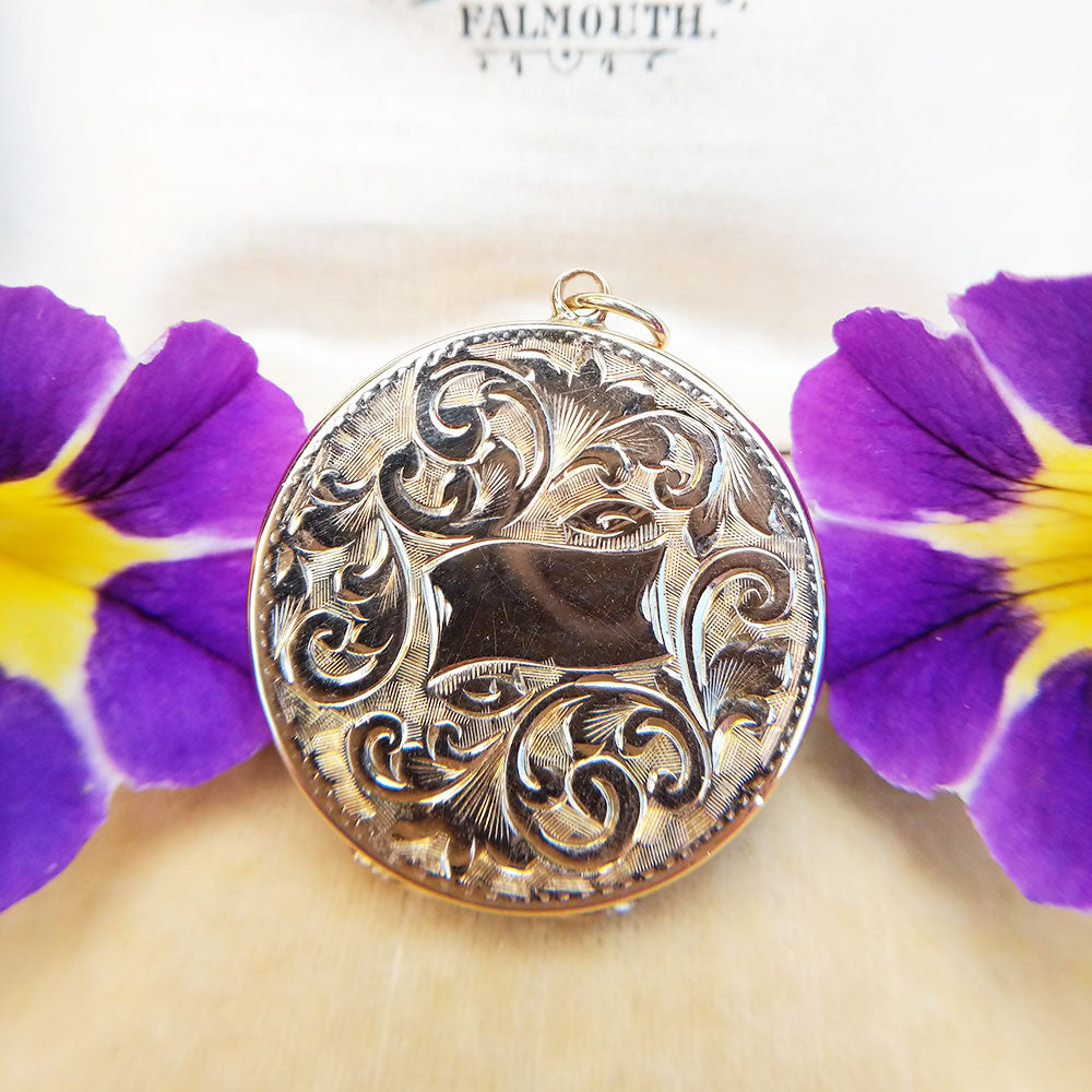 antique gold locket