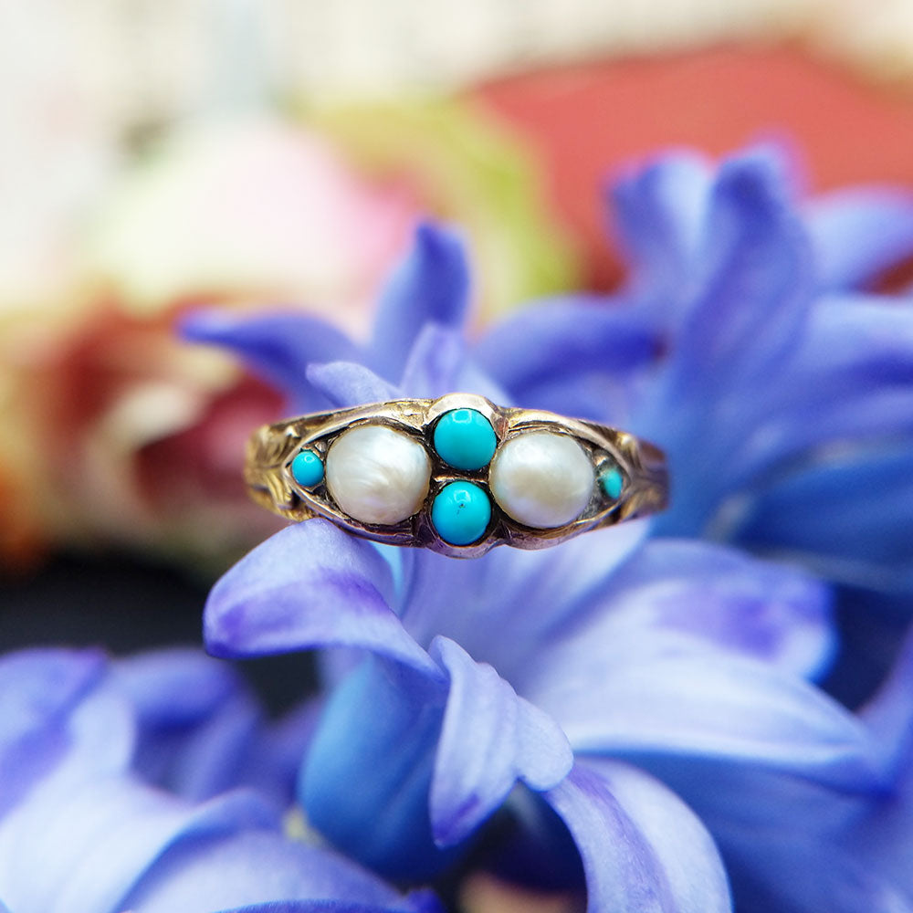 antique turquoise ring from 1867