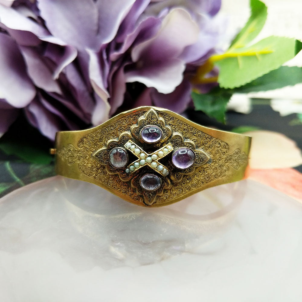 another view of the beautiful Victorian bangle front