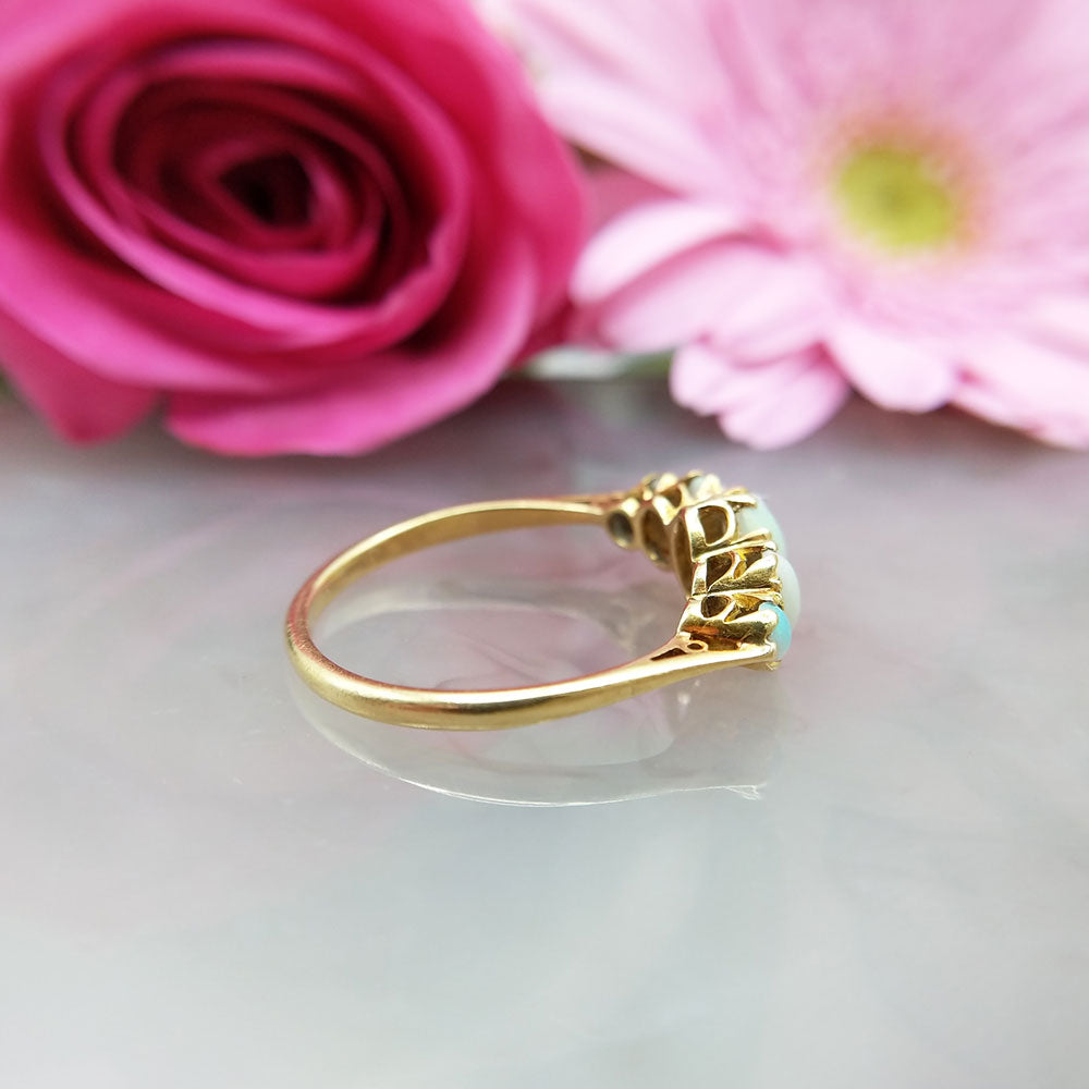 side profile of antique ring