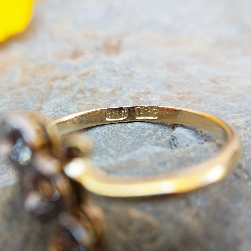 finesse mark and maker's mark still visible on antique ring