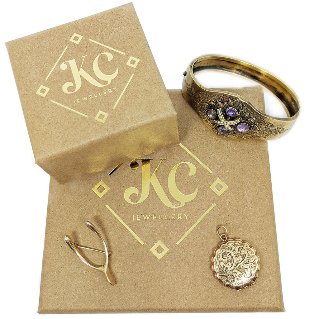 our antique diamond ring packaging