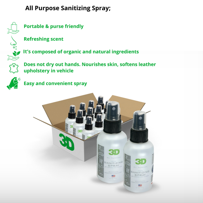 Sanitizing Spray 4 oz (Case of 12)