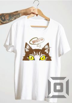 tricou funny cat who s there